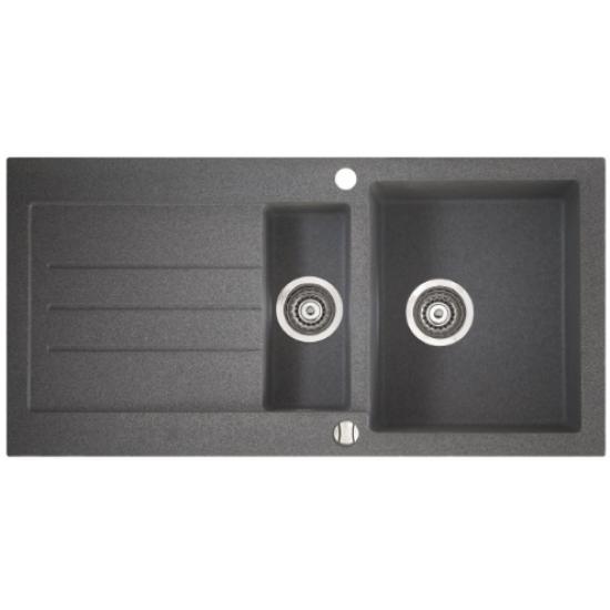 Marmorin Tellur 1000 Granit Evye 1,5 Gözlü Evye Damlalıklı