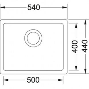 Franke Kubus KBG 110-50 Fragranite Stone Grey Tezgahaltı Evye