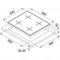 Franke New Square FHNS 604 4G BK C Cristallo Nero Cam Ocak