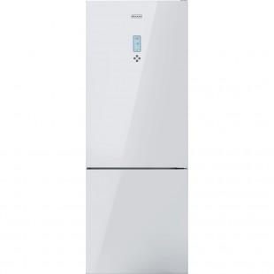 Franke Solo FFCB 508 NF WH A++ White glass Beyaz Cam Buzdolabı
