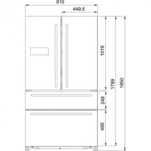 Franke Side by Side FRFD 6020 NF XS A+ Paslanmaz Çelik Buzdolabı