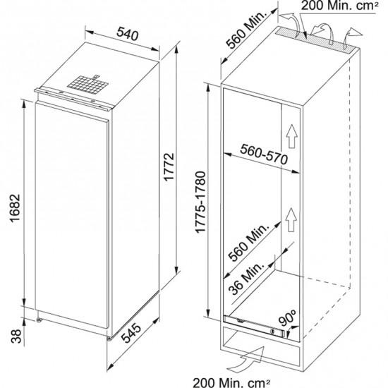 Franke Ankastre Buzdolabı FSDR 330 NR V A+
