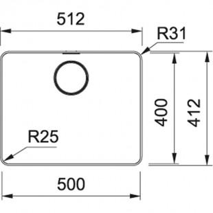 Franke Mythos MYX 210-50 Inox Tezgah Üstü yada Tezgaha Sıfır Çelik Evye