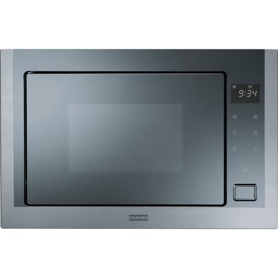 Franke Microwave Crystal FMW 250 CS2 G XS Stainless Steel-Mirror Glass Black Mikrodalga