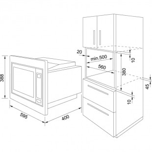 Franke Microwave FMW 250-G XS Paslanmaz Çelik