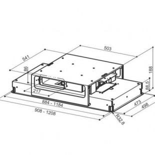 Faber HIGH-LIGHT BRS WH MATT  A911 Mat Beyaz  91 cm Tavana Gömme Davlumbaz