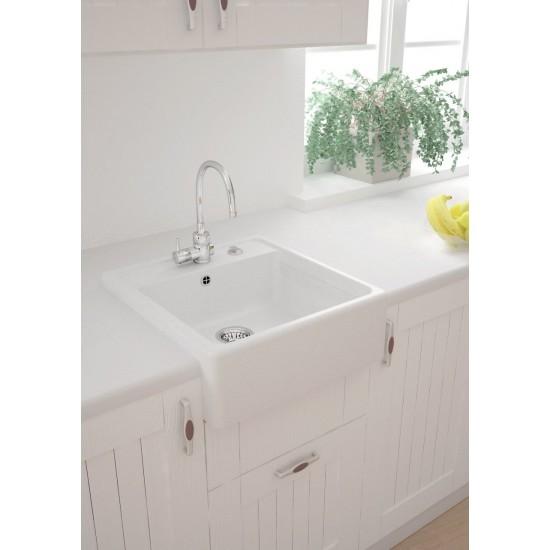 Marmarin Ewit 595 1K Eviye Tezgah Üstü Oturtmalı Fireclay Sink Granit Evye